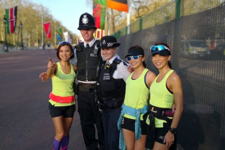 3 ladies with London Police
