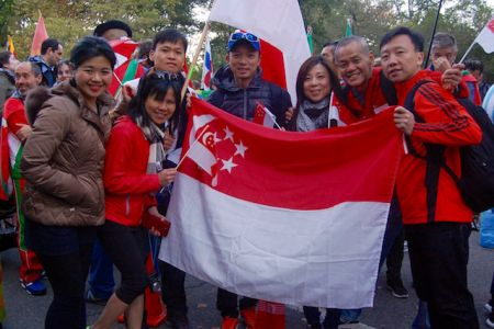Singapore contingent at the Parade of the Nations