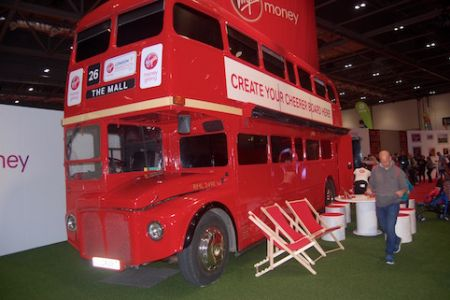 London bus for charity