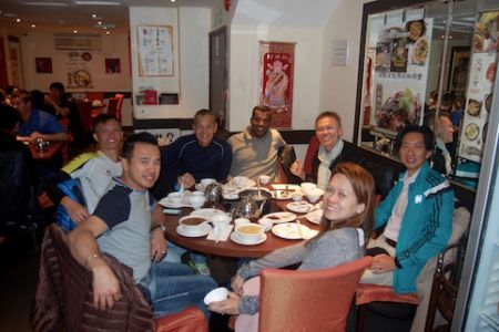 Celebration dinner at Four Seasons restaurant after the marathon