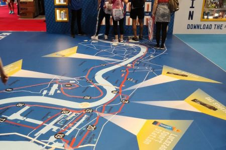 Map of the course at the Race Expo